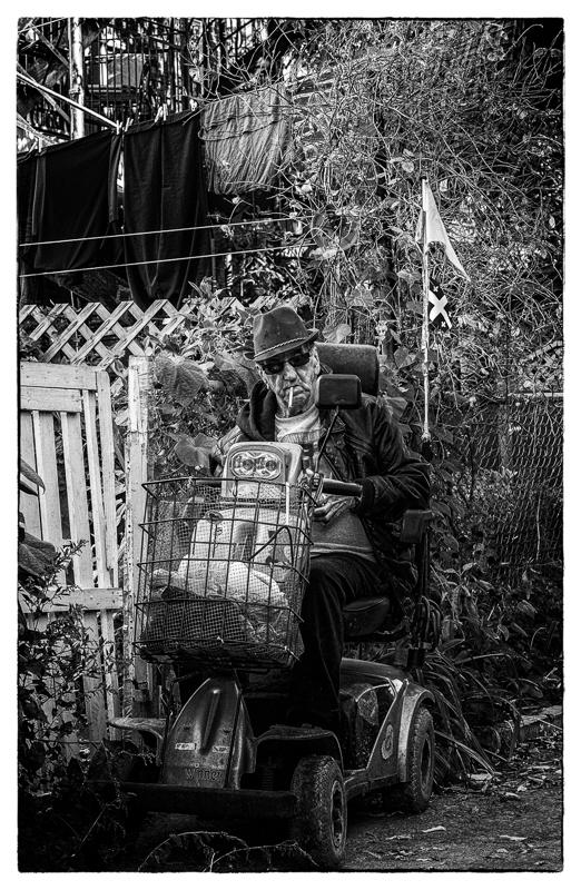 Le King de la ruelle, en triporteur (Montréal), Canada
