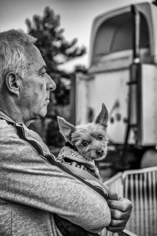 Homme et son chien (Laval)